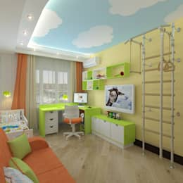 eclectic Nursery/kid's room by Design Rules