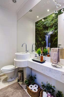 Projekty,  Łazienka zaprojektowane przez Amanda Pinheiro Design de interiores