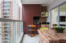 Apartamento São Bernardo: Terraços  por Amanda Pinheiro Design de interiores