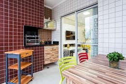 ระเบียง, นอกชาน by Amanda Pinheiro Design de interiores