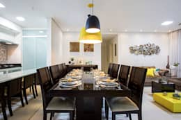Apartamento São Bernardo: Salas de jantar modernas por Amanda Pinheiro Design de interiores