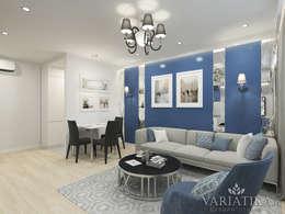 Perfekt Blaue Farbgestaltung Im Wohnzimmer. Ausgefallene Wohnzimmer Von Variatika