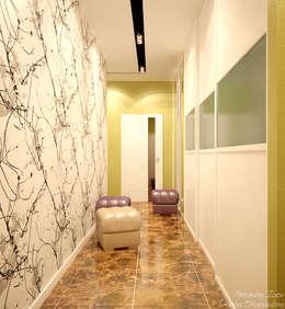 Pasillos y recibidores de estilo  por Студия интерьерного дизайна happy.design