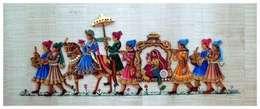 Indian bride:  Artwork by Ben wall mural art
