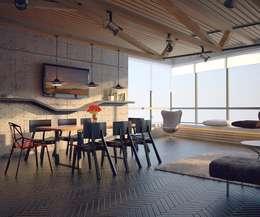 Aerobus: styl , w kategorii Jadalnia zaprojektowany przez Shtantke Interior Design