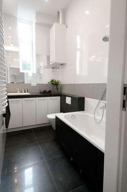Apartament do wynajęcia w Krakowie : styl , w kategorii Łazienka zaprojektowany przez ARTEMA  PRACOWANIA ARCHITEKTURY  WNĘTRZ