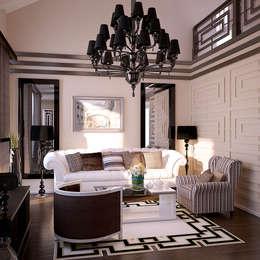 Salon z kominkiem: styl , w kategorii Salon zaprojektowany przez Shtantke Interior Design