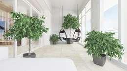 Jardines de invierno de estilo minimalista por ROOMDESIGNBÜRO