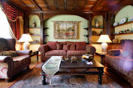 rustic Living room by RRdesign