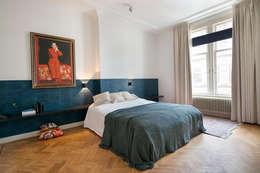 Stadsvilla Den Haag: eclectische Slaapkamer door IJzersterk interieurontwerp