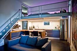 Studio 30 m2 Nice: Salon de style de style Moderne par ND ARCHITECTURE D'INTERIEUR
