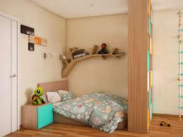 Теплый модерн с очаровательной детской: Детские комнаты в . Автор – Tatiana Zaitseva Design Studio