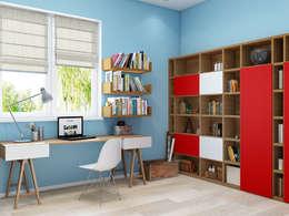 Projekty,  Pokój dziecięcy zaprojektowane przez Tatiana Zaitseva Design Studio