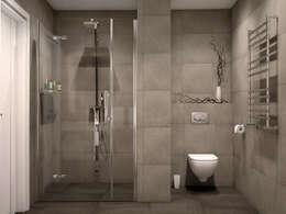 Projekty,  Łazienka zaprojektowane przez Tatiana Zaitseva Design Studio