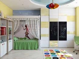 Recámaras infantiles de estilo minimalista por Tatiana Zaitseva Design Studio