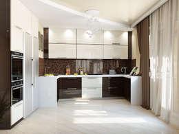Минималистичный интерьер с яркой детской: Кухни в . Автор – Tatiana Zaitseva Design Studio