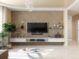 Projekty,  Salon zaprojektowane przez Tatiana Zaitseva Design Studio