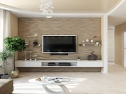 Tatiana Zaitseva Design Studio: minimal tarz tarz Oturma Odası