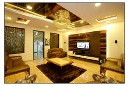 modern Living room by sayyam interiors.