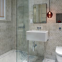 Baños de estilo  por ReDesign London Ltd
