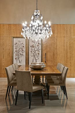 rustic Dining room by Gláucia Britto