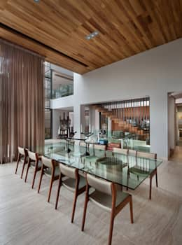 modern Dining room by C Cúbica Arquitectos
