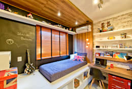 Espaço do Traço arquitetura: endüstriyel tarz tarz Çocuk Odası