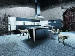 Een kooktafel als kookeiland: moderne Keuken door Tinnemans Keukens