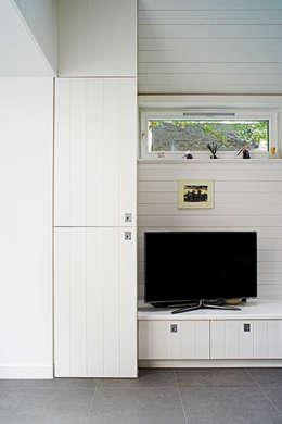 modern Media room by E2 Architecture + Interiors