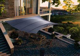 Projekty,  Balkon, weranda i taras zaprojektowane przez derraumhoch3