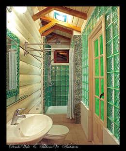 D&T Architects: kırsal tarz tarz Banyo