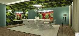 Sala de jantar do 04 quartos: Salas de jantar modernas por Rangel & Bonicelli Design de Interiores Bioenergético