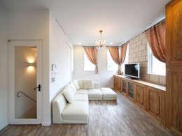 scandinavian Living room by atelier m