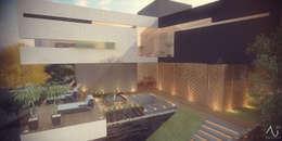Vista Aérea : Casas de estilo minimalista por 21arquitectos