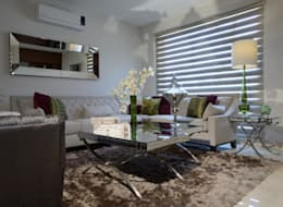 eclectic Living room by VICTORIA PLASENCIA INTERIORISMO