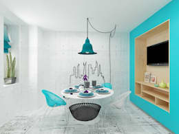 Cozinhas industriais por Дизайн студия Марины Геба