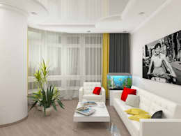 Salas de estilo minimalista por Дизайн студия Марины Геба