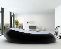 Studio Ferrante Design: modern tarz Banyo