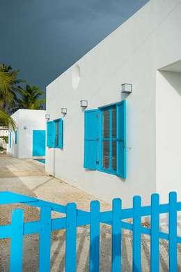 Villas Chuburná Puerto: Casas de estilo mediterraneo por Arq Mobil