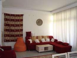 Alanya Sunlife Real Estate & Constructions – Alanya Sun Life: akdeniz tarzı tarz Oturma Odası