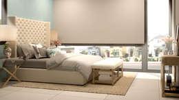Projekty,  Sypialnia zaprojektowane przez CONTRASTE INTERIOR