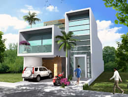 Casas de estilo minimalista por Milla Arquitectos S.A. de C.V.