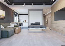 Холостяцкое жилье в 36-и метрах: Гостиная в . Автор – BRO Design Studio