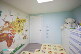 블루포인트 아파트 리모델링: 디자인투플라이의  아이방
