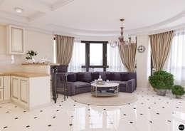 """1-к квартира в ЖК """"Park Avenue"""": Гостиная в . Автор – BRO Design Studio"""