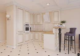 """1-к квартира в ЖК """"Park Avenue"""": Кухни в . Автор – BRO Design Studio"""