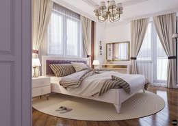 Projekty,  Sypialnia zaprojektowane przez BRO Design Studio