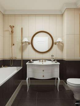 """1-к квартира в ЖК """"Park Avenue"""": Ванные комнаты в . Автор – BRO Design Studio"""