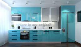Cocinas de estilo minimalista por Архитектурная мастерская 'SOWA'