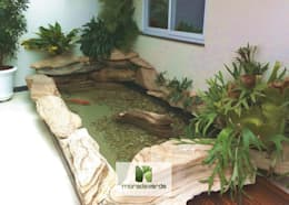 Jardín de estilo  por Moradaverde Arquitetura